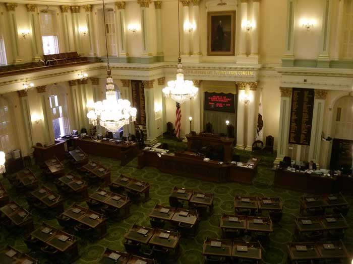 California Senate chamber - California State Capitol in Sacramento