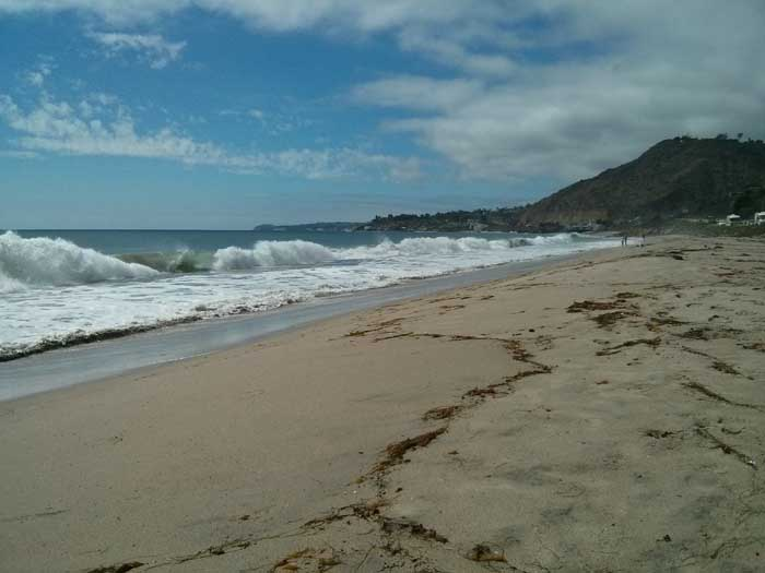 Corral Canyon Beach in Malibu