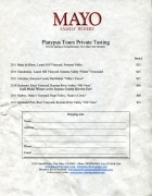 Mayo Winery price list