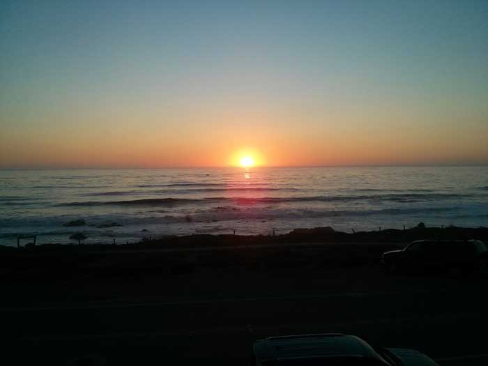 Sunset at Moonstone Beach