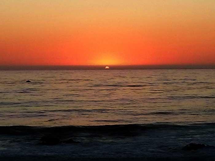 Sunset at Moonstone Beach