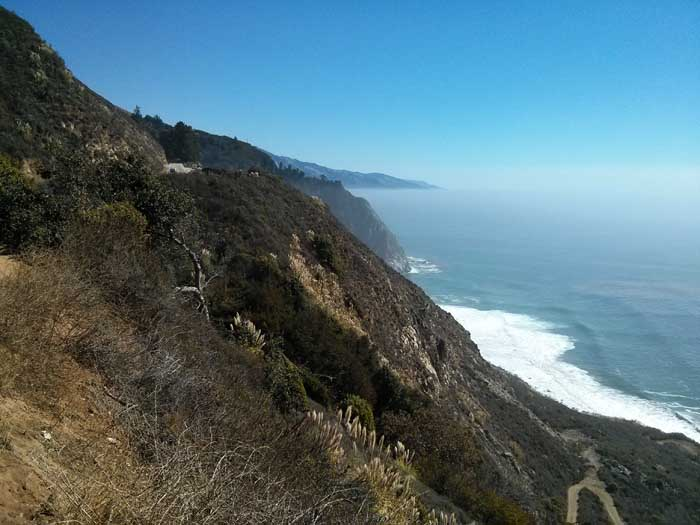 The coast just south of Big Sur Station