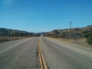 South of Lompoc looking north up Highway 1