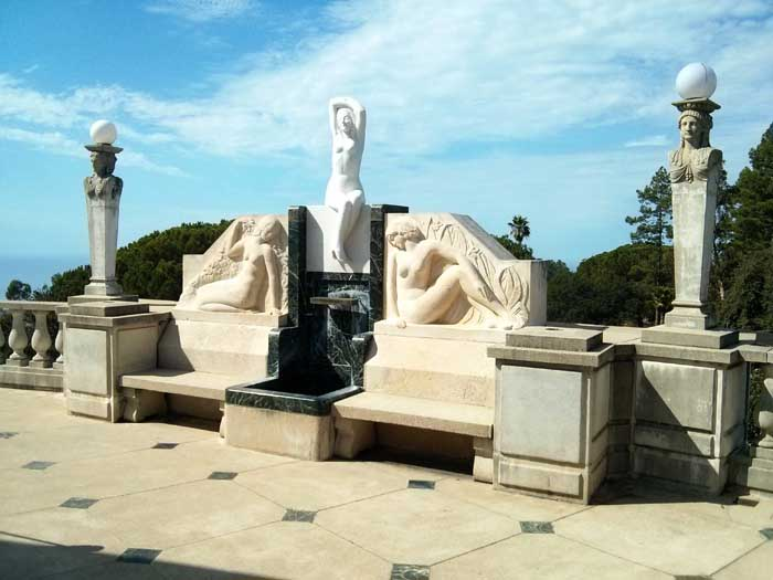 Neptune Pool statue - Hearst Castle