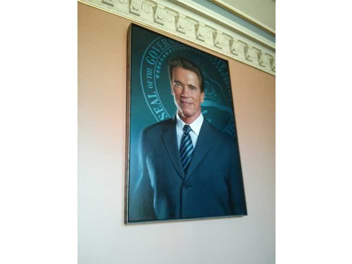 Portrait of Governor Arnold Schwarznegger