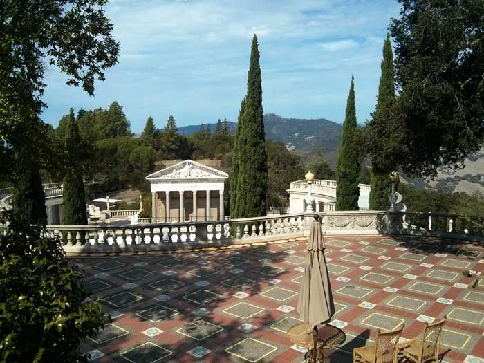 West Terrace view - Hearst Castle