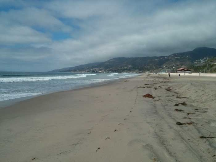 Zuma Beach in Malibu looking north