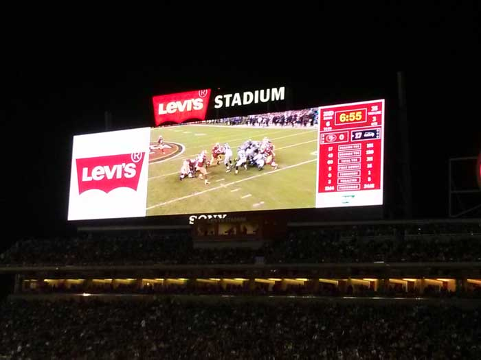 Display screens during the game