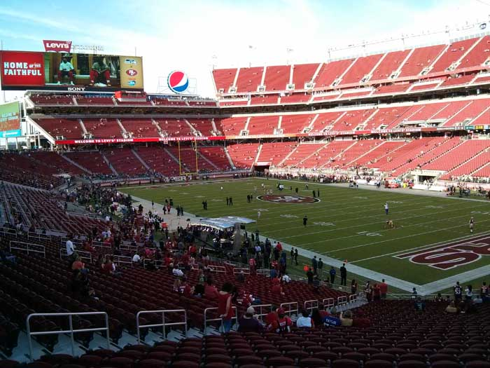 Pre-game inside Levi's Stadium