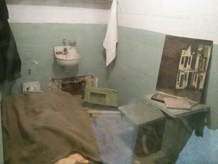 Cell in Alcatraz Prison
