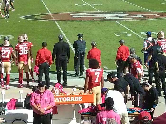 49ers sideline