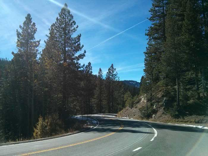 Downhill from the Yuba Pass
