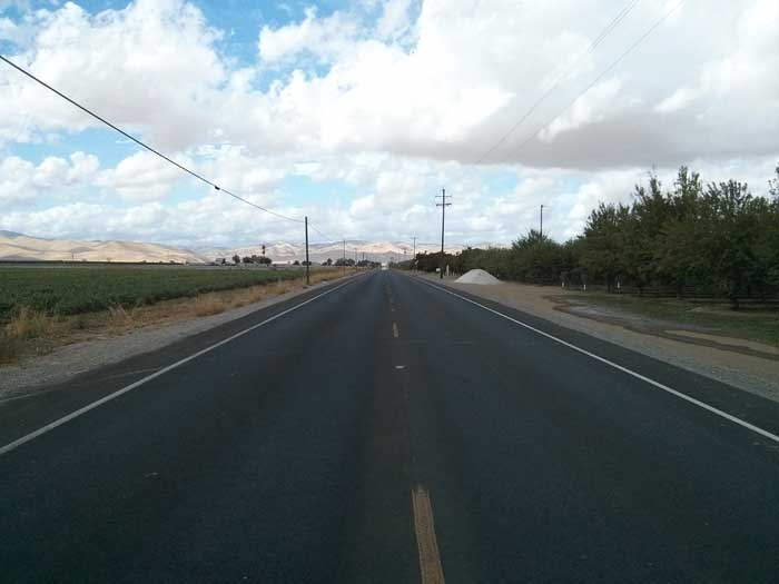 Highway 140 looking back west