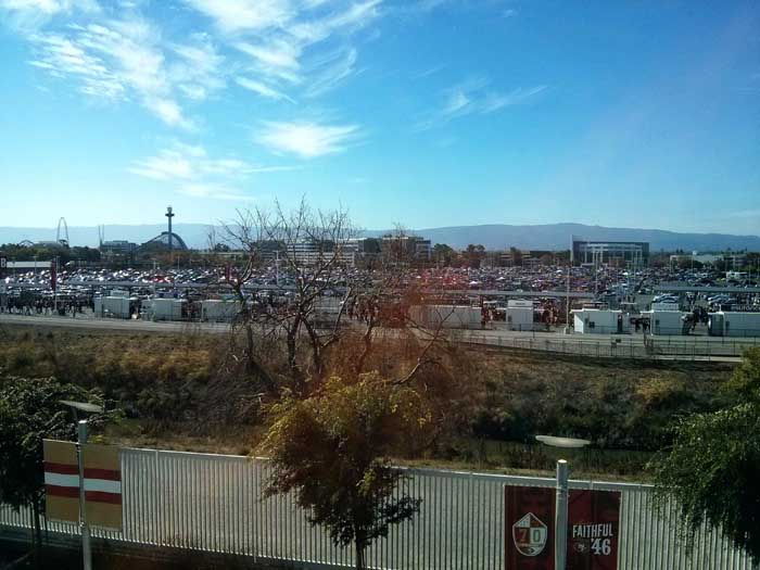 Levi's Stadium parking lots