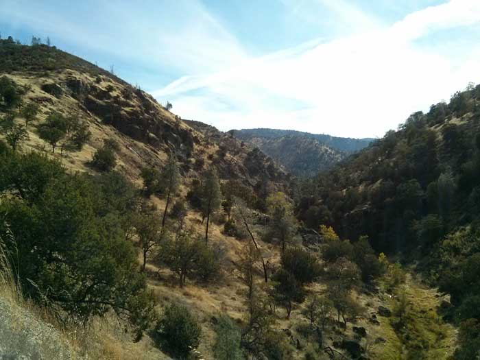 View from Del Puerto Canyon Road