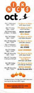 Nick's music calendar