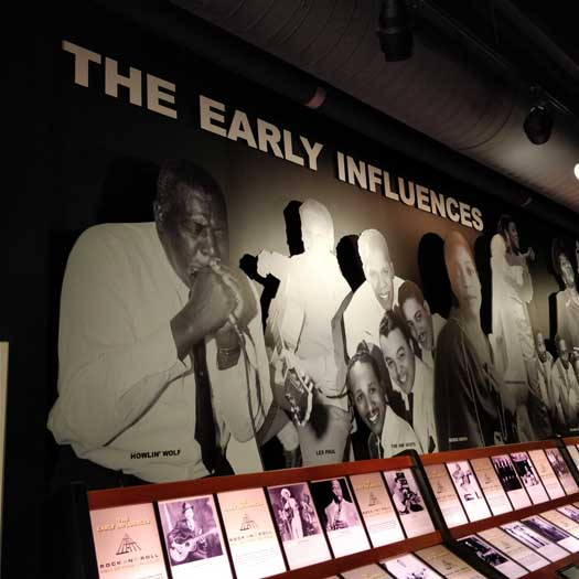 The Early Influences exhibit at the Rock'n'Roll Hall of Fame