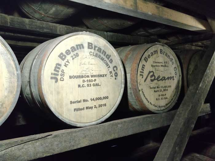 Inside a barrel warehouse