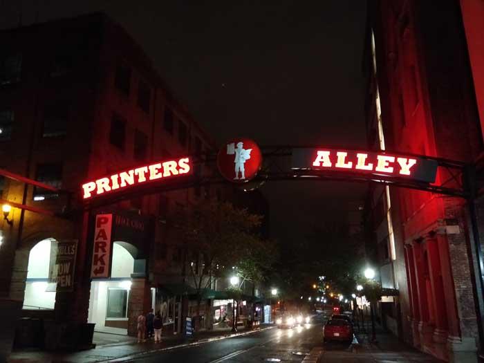 Printer's Alley