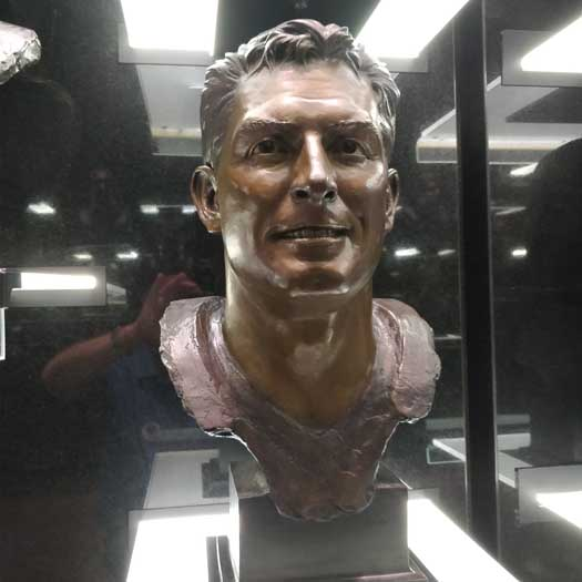 Steve Young in the Pro Football Hall of Fame Gallery