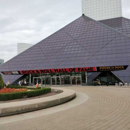 The Rock'n'Roll Hall of Fame in Cleveland