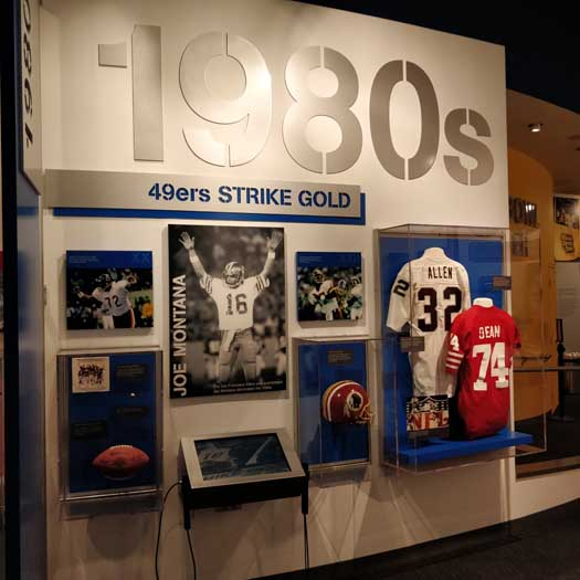 Super Bowl exhibit