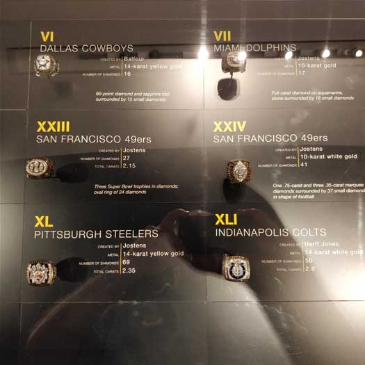Super Bowl exhibit - rings