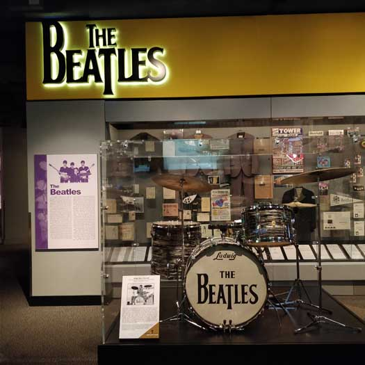 The Beatles exhibit at the R'n'R HoF