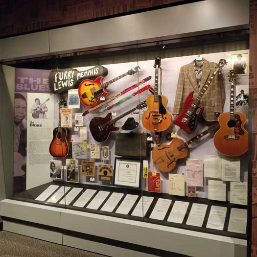 The Blues exhibit at the Rock'n'Roll Hall of Fame