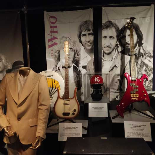 The Who exhibit at the Rock'n'Roll Hall of Fame
