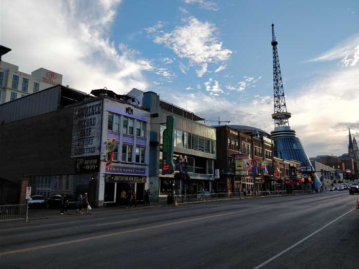 Honky Tonk Row on Broadway in Nashville