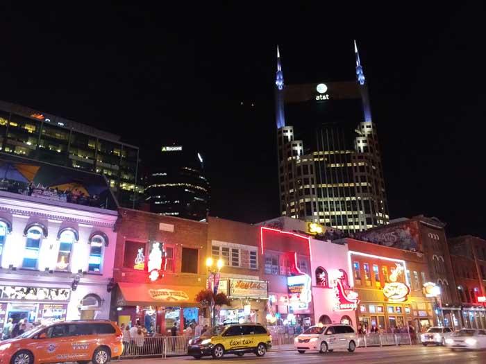 Broadway at night