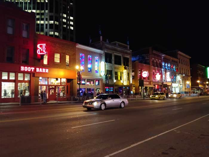 Broadway at night