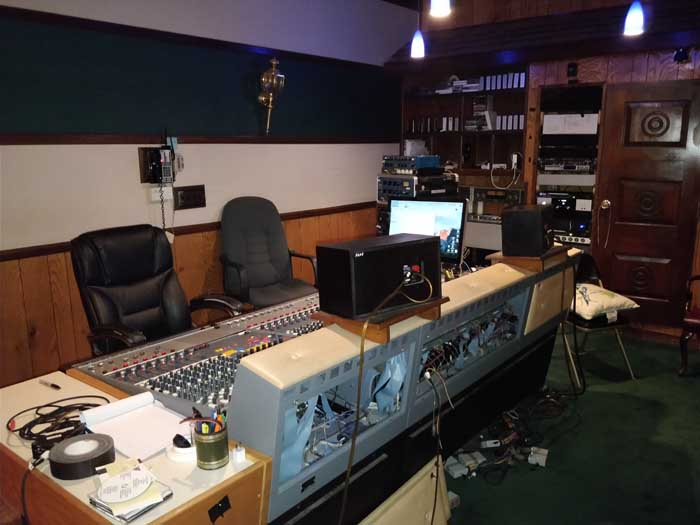 Control room at FAME Studio A