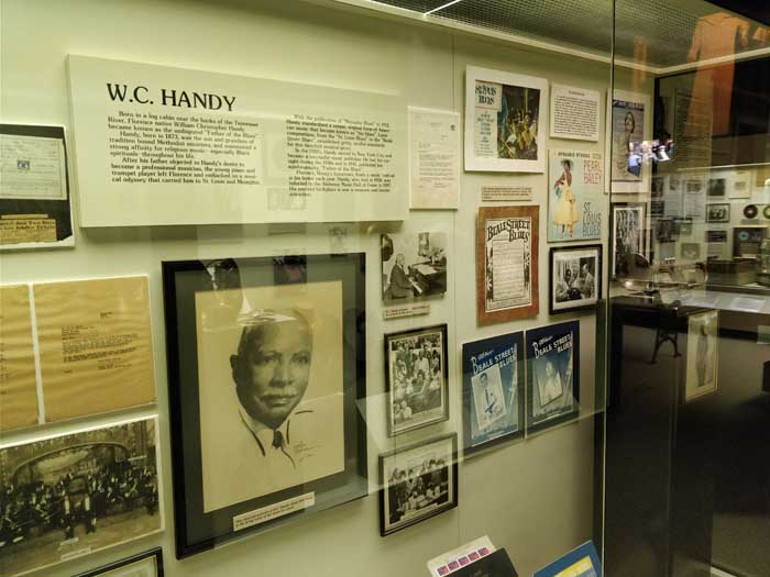 WC Handy exhibit inside Alabama Music Hall of Fame