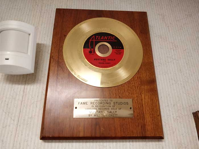 Mustang Sally gold record