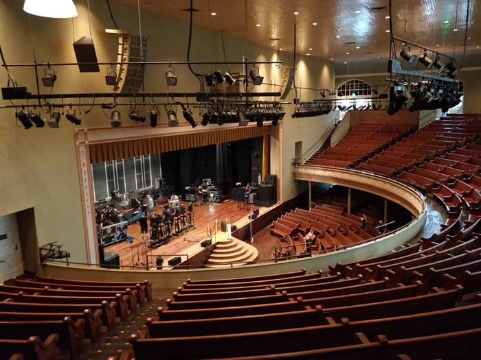 Inside Ryman Auditorium