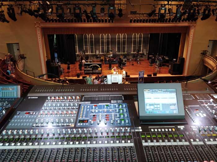 Inside Ryman Auditorium