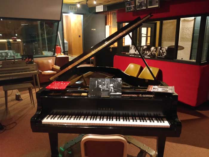 The grand piano in Muscle Shoals studio