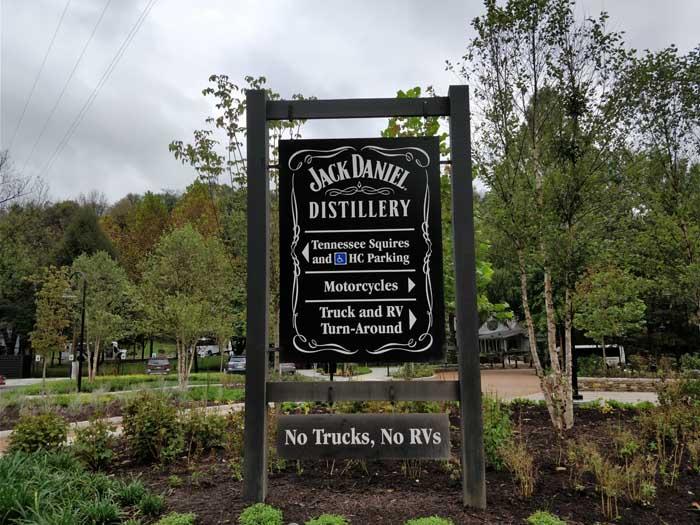 Jack Daniel Distillery entrance