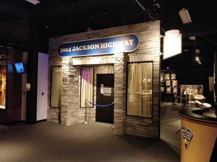 Muscle Shoals Sound Studio exhibit at Musicians Hall of Fame