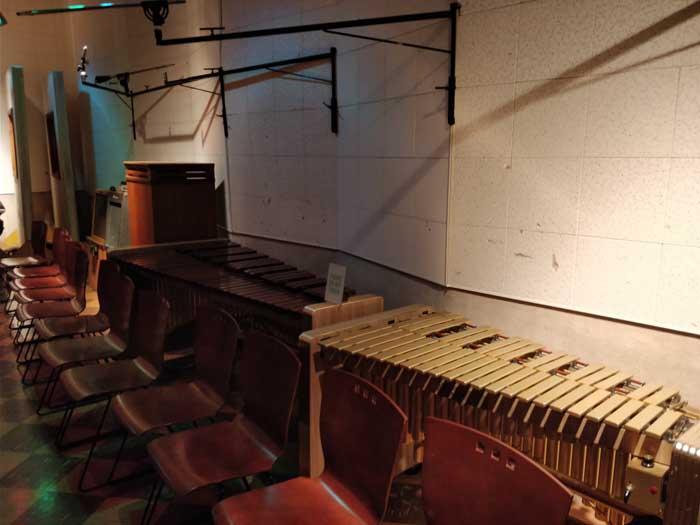 Various original instruments in Studio B
