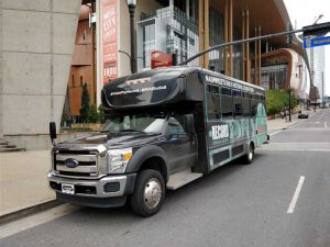 Studio B tour bus