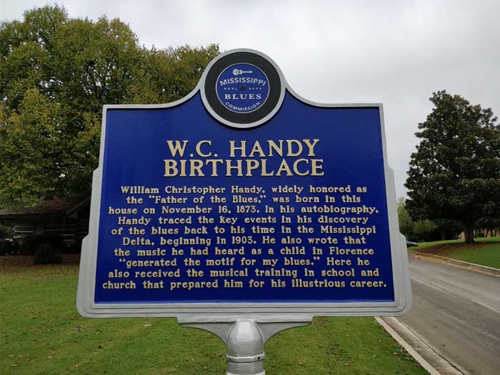 Blues Trail marker at WC Handy House & Museum