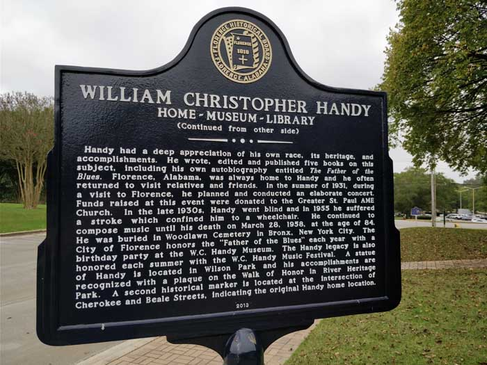 Marker at WC Handy House & Museum