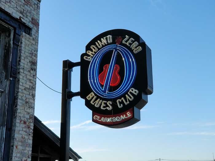 Ground Zero Blues Club sign
