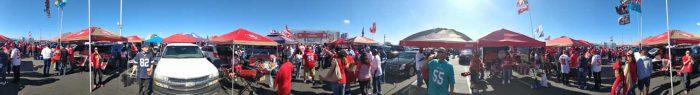 49ers tailgate panorama 2017