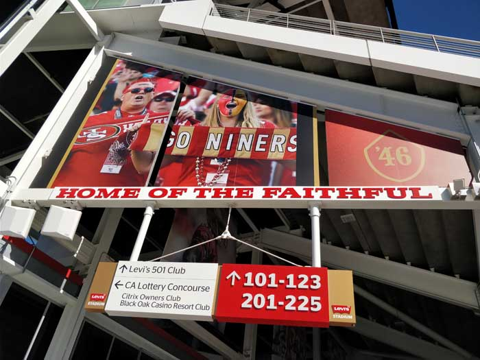 Around the Levi's concourse