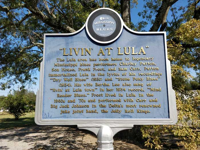Blues Trail Marker, Lula, MS
