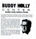 Buddy Holly Center guide